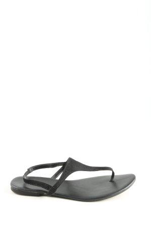 H&M Sandalo toe-post nero stile casual