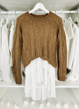 H&M Jersey trenzado marrón-marrón claro mohair