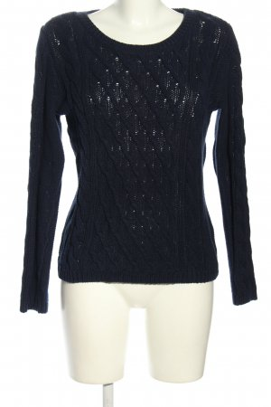 H&M Cable Sweater black cable stitch casual look