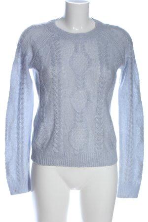 H&M Jersey trenzado azul punto trenzado look casual