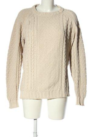 H&M Maglione intrecciato crema punto treccia stile casual