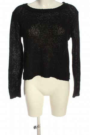 H&M Cable Sweater black casual look