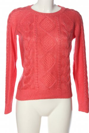 H&M Cable Sweater pink cable stitch casual look