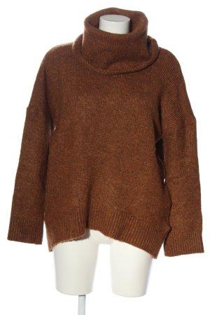H&M Jersey trenzado marrón look casual