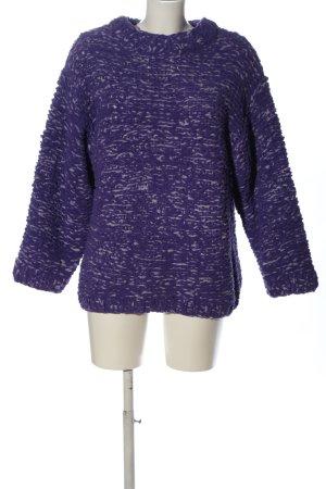H&M Jersey trenzado lila-blanco punto trenzado look casual