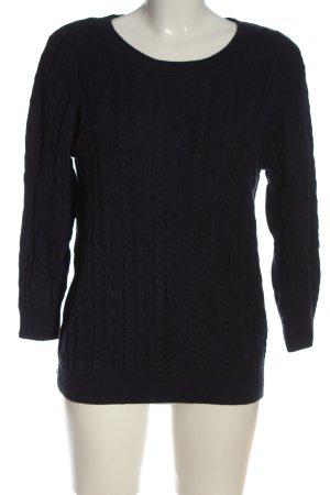 H&M Jersey trenzado negro punto trenzado look casual