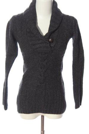H&M Jersey trenzado gris claro punto trenzado look casual