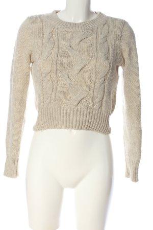 H&M Warkoczowy sweter w kolorze białej wełny Warkoczowy wzór W stylu casual