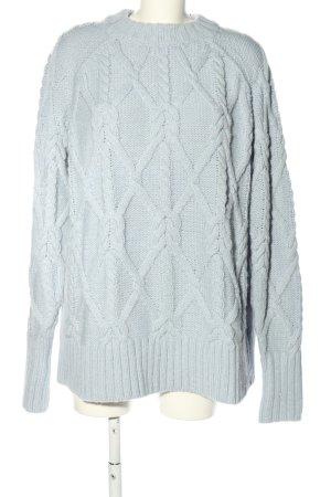 H&M Jersey trenzado gris claro look casual