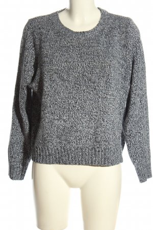 H&M Cable Sweater black-white flecked casual look