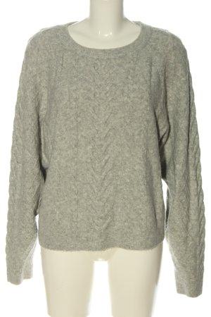 H&M Jersey trenzado gris claro moteado look casual