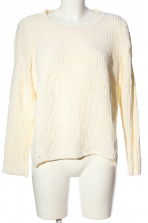 H&M Warkoczowy sweter kremowy W stylu casual