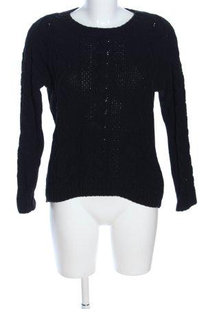 H&M Zopfpullover schwarz Casual-Look