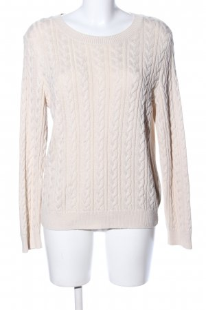 H&M Zopfpullover creme Zopfmuster Casual-Look