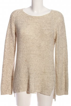 H&M Cable Sweater cream flecked casual look