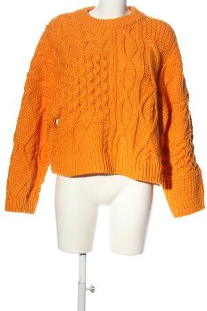 H&M Jersey trenzado naranja claro punto trenzado look casual