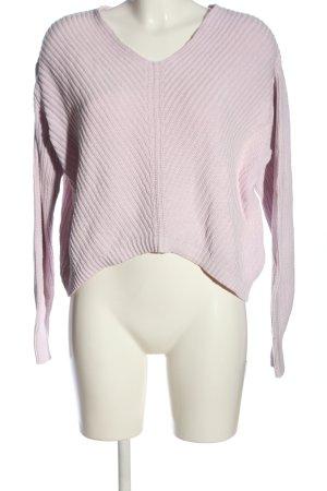 H&M Jersey trenzado rosa punto trenzado look casual