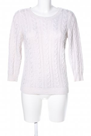 H&M Cable Sweater white cable stitch casual look