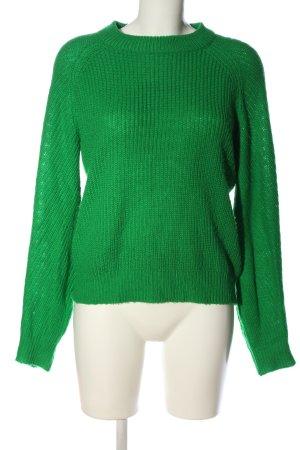 H&M Zopfpullover grün Casual-Look