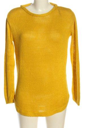 H&M Warkoczowy sweter bladożółty Warkoczowy wzór W stylu casual