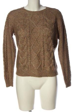 H&M Jersey trenzado color bronce moteado look casual