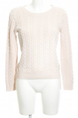 H&M Zopfpullover creme-wollweiß Zopfmuster Casual-Look
