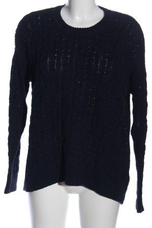 H&M Warkoczowy sweter czarny W stylu casual