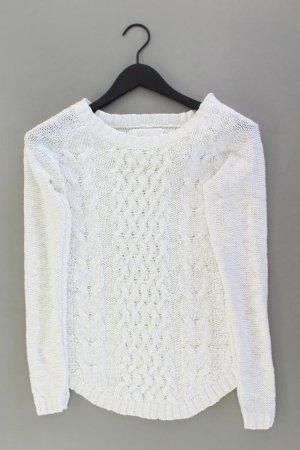 H&M Zopfpullover Größe XS weiß aus Baumwolle