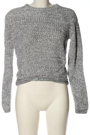 H&M Maglione intrecciato grigio chiaro puntinato stile casual