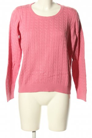 H&M Zopfpullover pink Zopfmuster Casual-Look