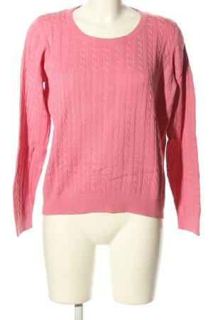 H&M Maglione intrecciato rosa punto treccia stile casual