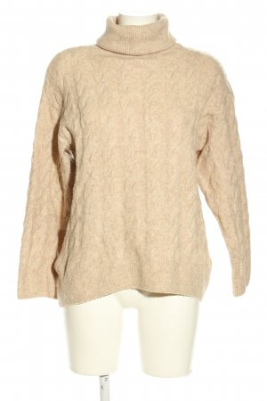 H&M Zopfpullover wollweiß Zopfmuster Casual-Look