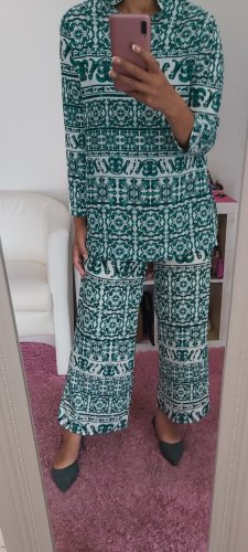 H&M Tailleur pantalone bianco-verde bosco