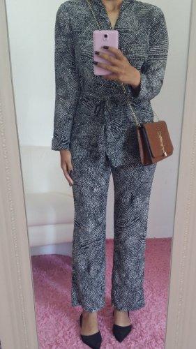 H&M Tailleur-pantalon blanc-noir