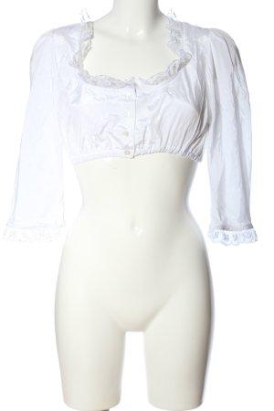 H.Moser Cropped Top weiß Elegant
