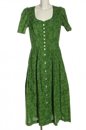 H.Moser Dirndl grün abstraktes Muster klassischer Stil