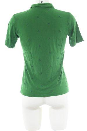 H.Moser Polo-Shirt grün Allover-Druck Casual-Look
