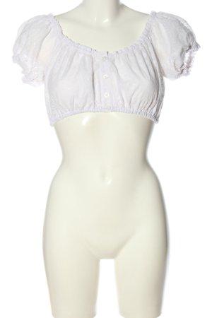 H.Moser Tradycyjna bluzka biały W stylu casual