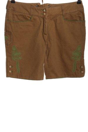 H.Moser Pantalon bavarois brun-vert style décontracté