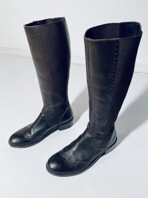 Hanky panky Stretch Boots black brown-dark brown leather