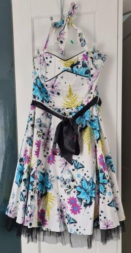 H&R London Kleid mit Floral Druck Blumen 60er Jahre