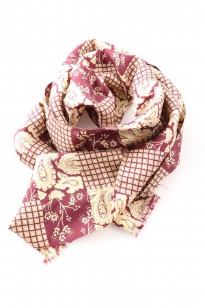 H.T.B. Hutmanufactur Shoulder Scarf pink-natural white allover print casual look