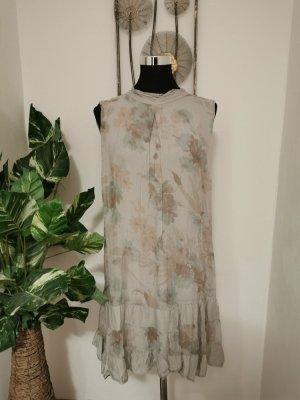 H Trend Italy Damen Midikleid Cocktailkleid Sommerkleid grau Größe M L