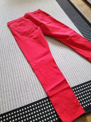 h und m jeans rot