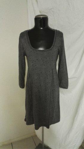 H3 Jersey Kleid m. Verzierung in Grautöne Muster von Boysen`s Gr.38 w.Neu