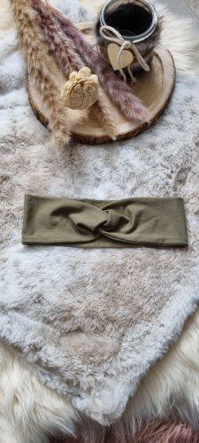 Handmade Cinta para el pelo verde oliva-caqui
