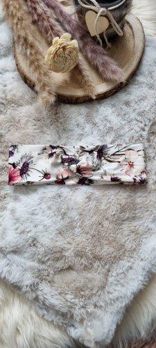 Handmade Cinta para el pelo blanco-rosa
