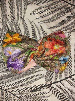 Haarband aus Seide mit GGBlumen-Print