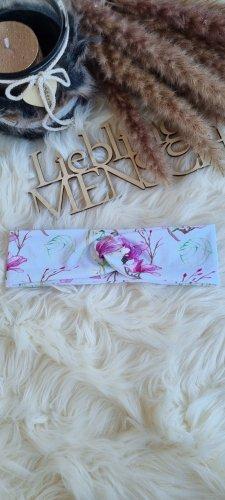 Handmade Nastro per capelli bianco-rosa