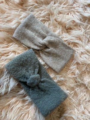 H&M Knitted Hat grey-beige